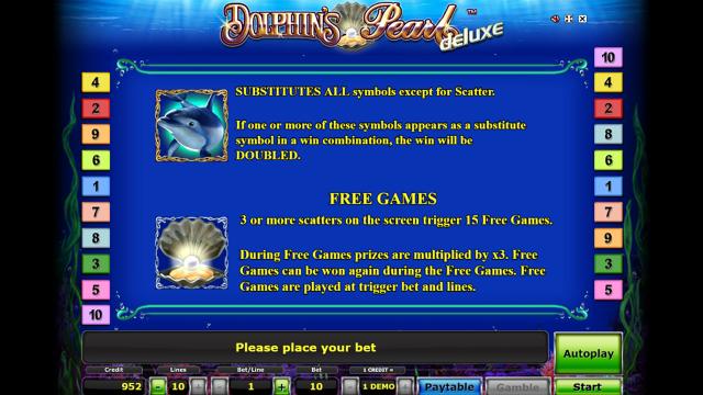 играть бесплатно слот Dolphin's Pearl Deluxe