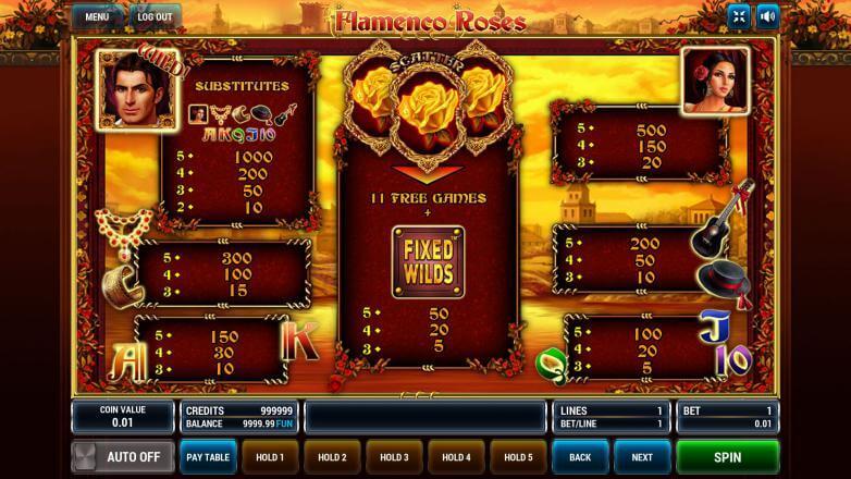 Flamenco Roses игровой автомат