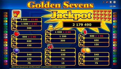 Golden Sevens игровой автомат