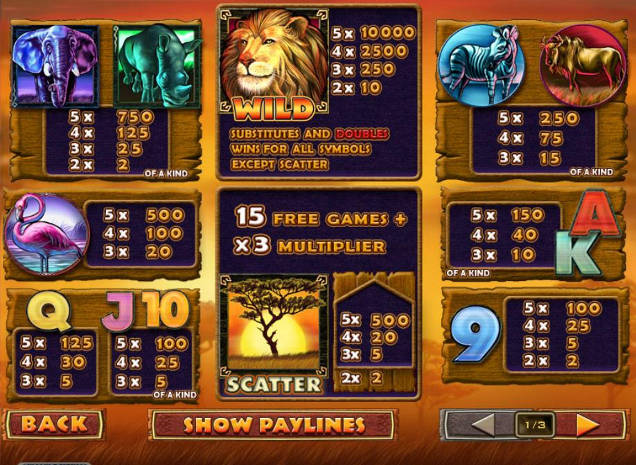 слот Safari Heat играть бесплатно