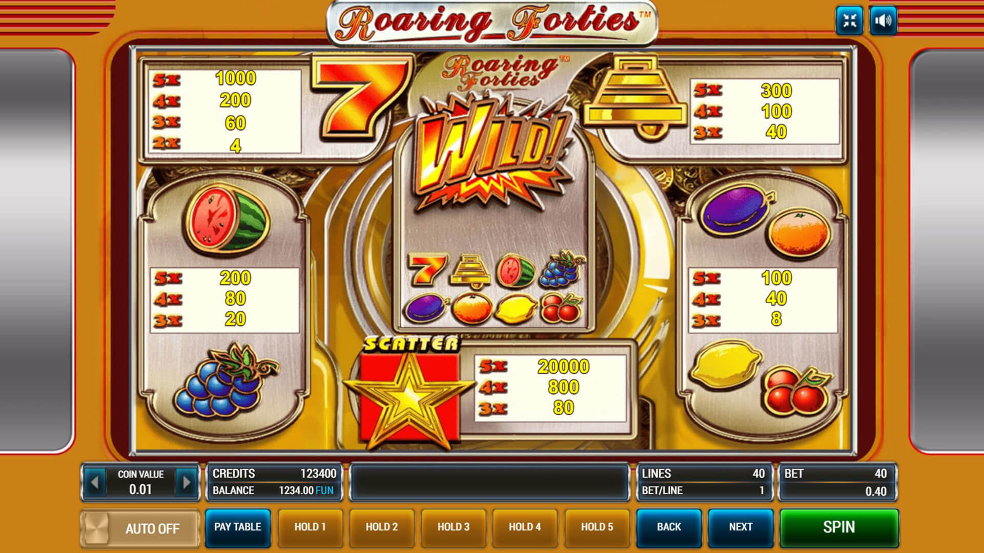 игровой автомат Roaring Forties
