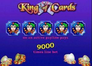 слот King of Cards играть бесплатно