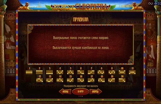 слот Riches of Cleopatra играть бесплатно
