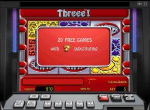 слот Three играть бесплатно